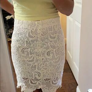 Forever 21- white lace skirt